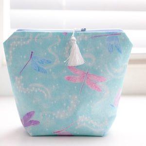 Handbags - Glittery Dragonfly cosmetic bag with tassel